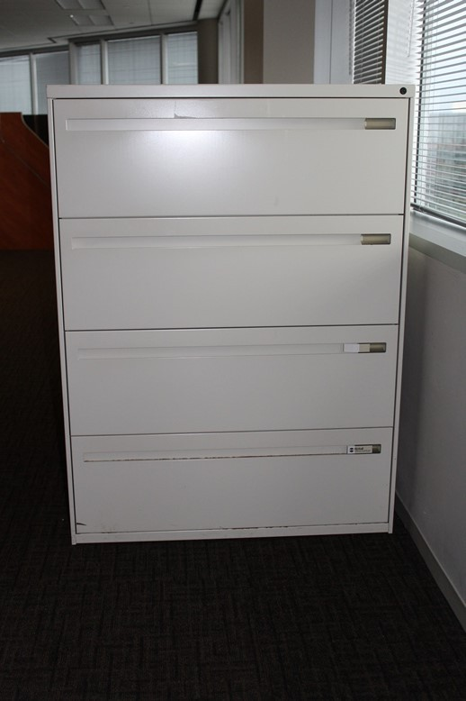 4 Drawer 36 Tan Lateral File By Kimball