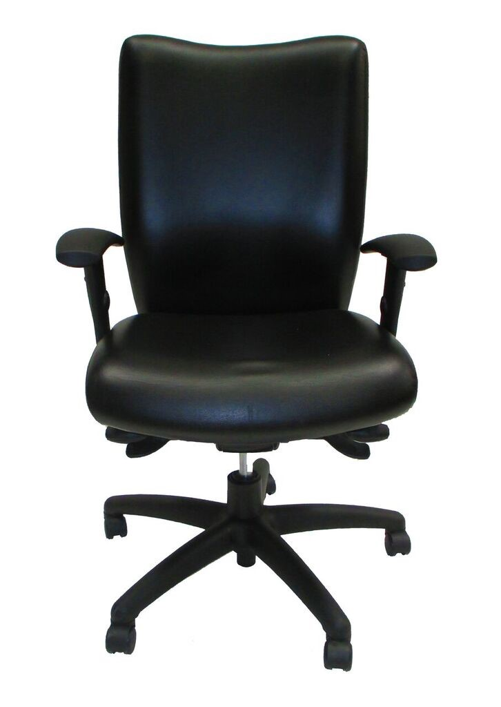 National Office Furniture Mix It Task Chair Black Leather 1