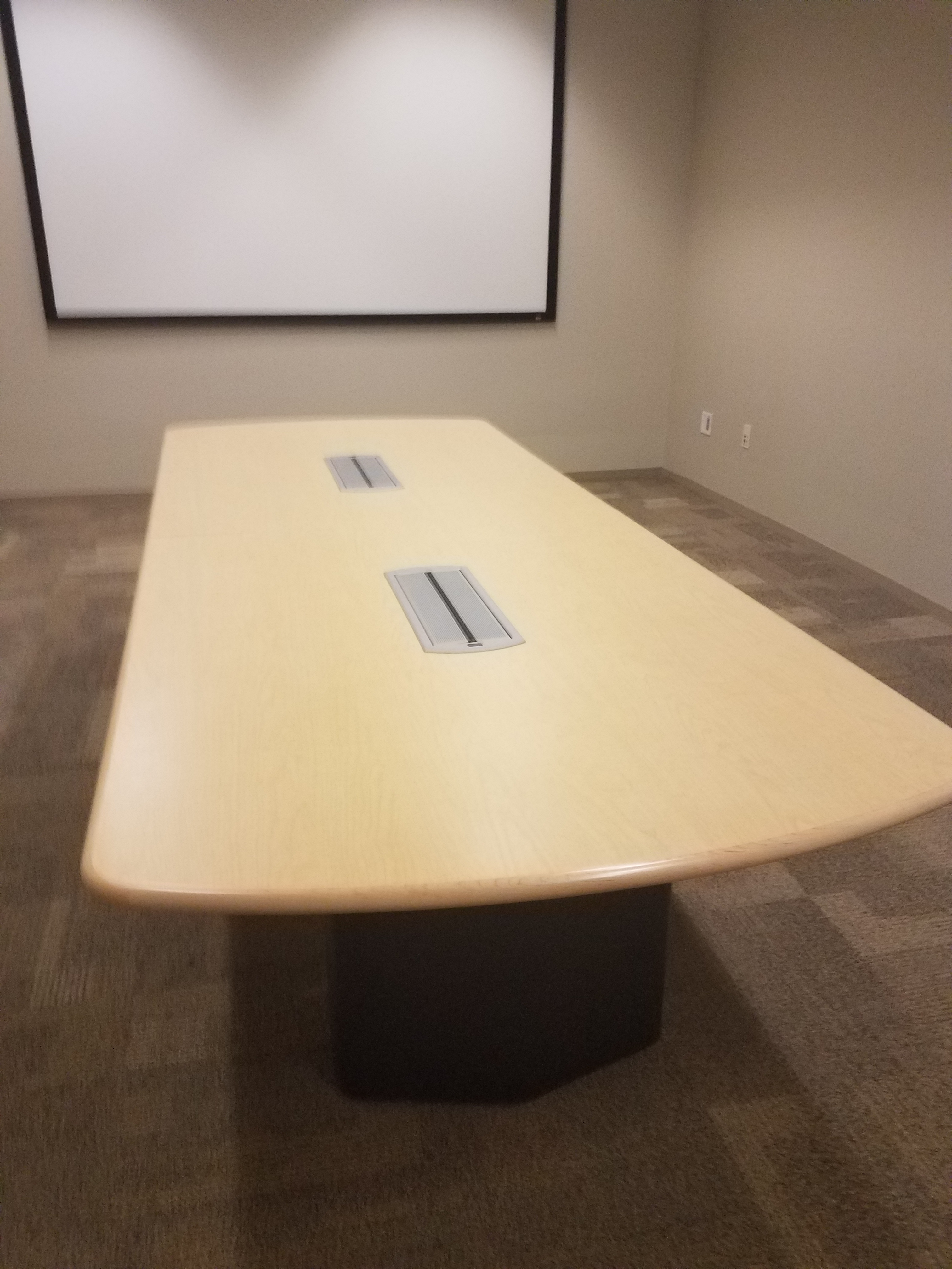 Used Office Furniture X Steelcase Maple Conference Table - 10 x 4 conference table