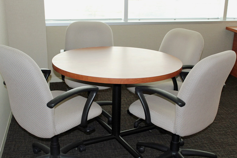 42″ Medium Cherry Round Table By Kimball