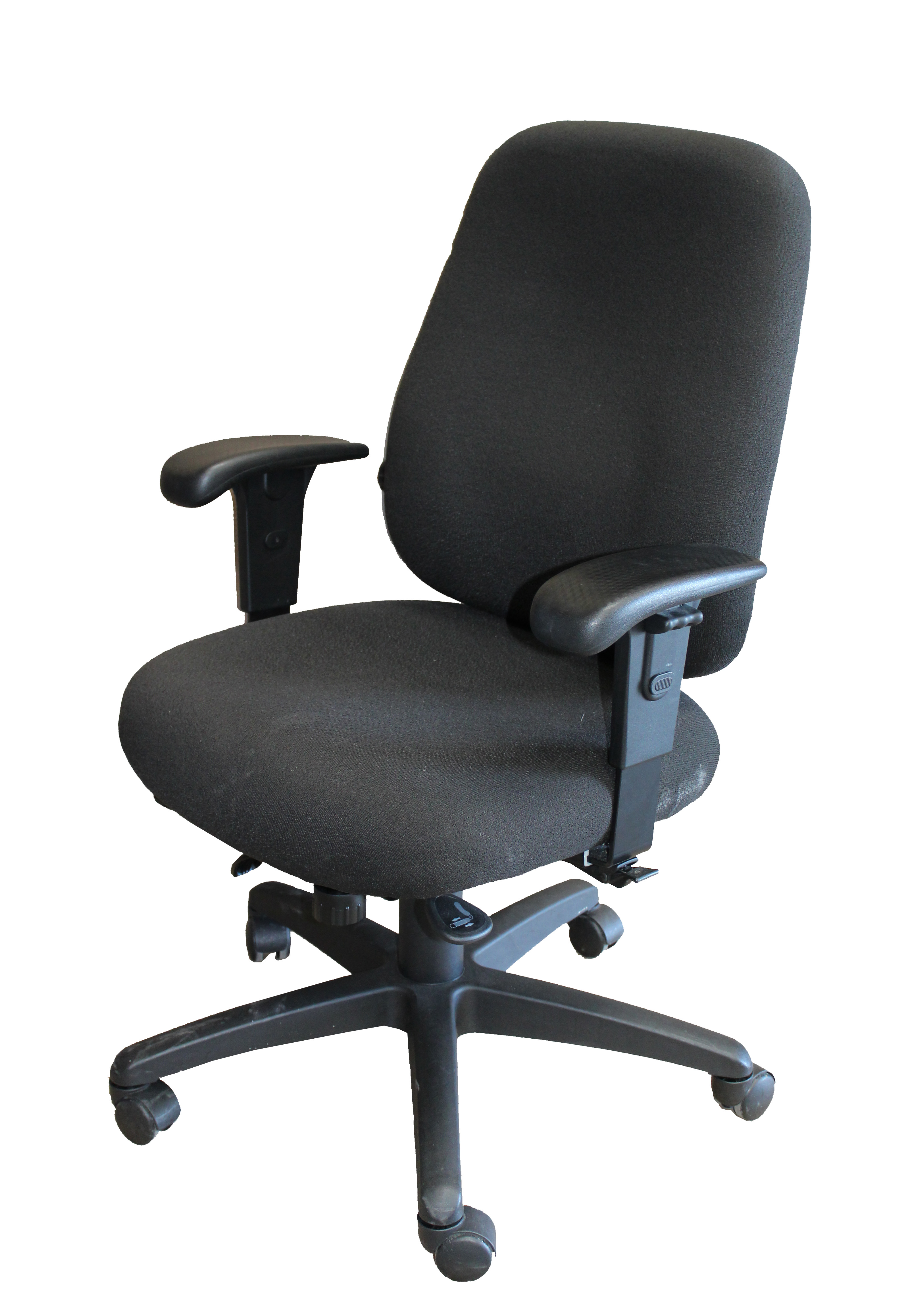 Black Fabric Square Back Fabric Seat Task Chair By Office Master