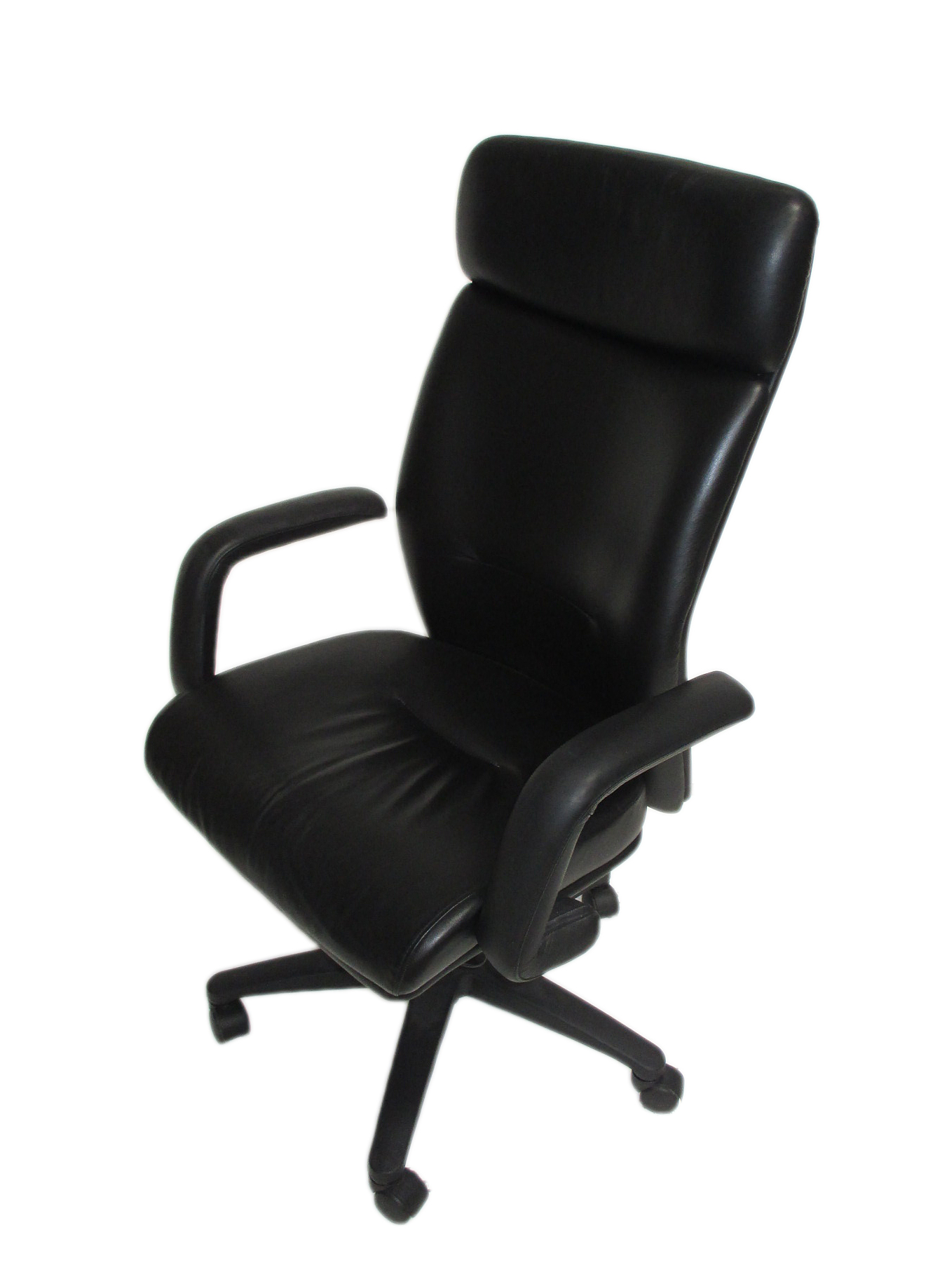 Astonishing High Back Executive Chair With Black Leather Machost Co Dining Chair Design Ideas Machostcouk