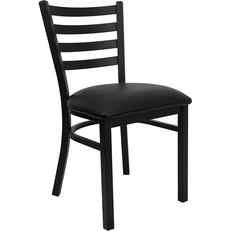 Black Ladder Back Metal Chair by Space Seating