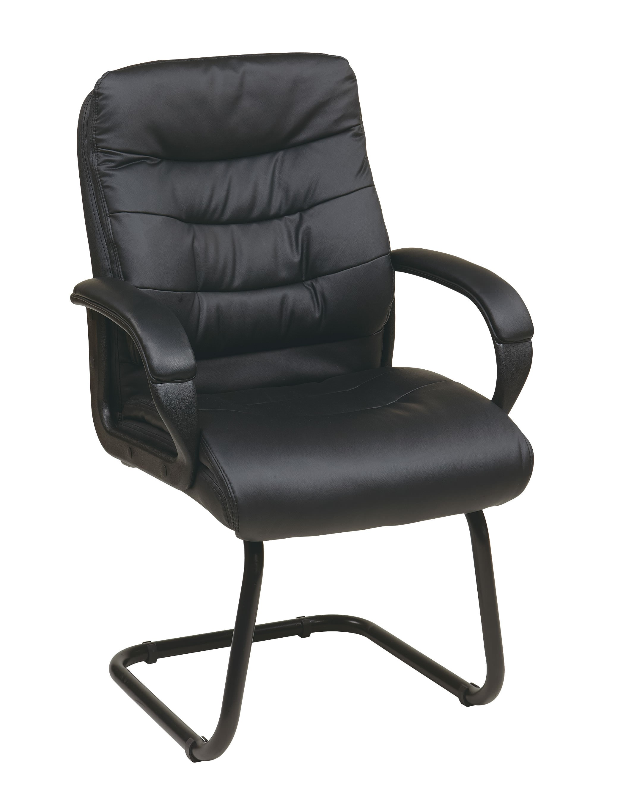 Faux Leather Guest Chair With Sled Base By Space Seating