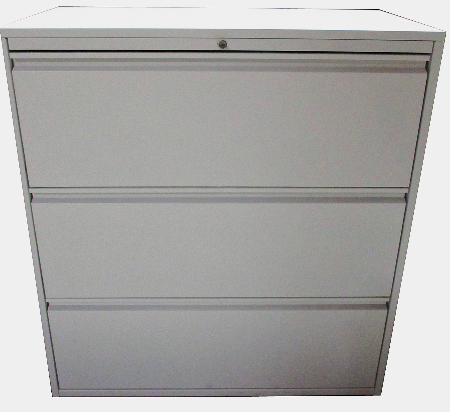 Used Office Furniture : 3 Drawer 36″ Lateral File - Cream by Haworth on