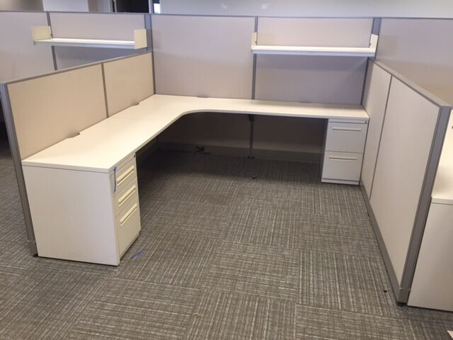 8x8 Haworth Unigroup Too Used Cubicles