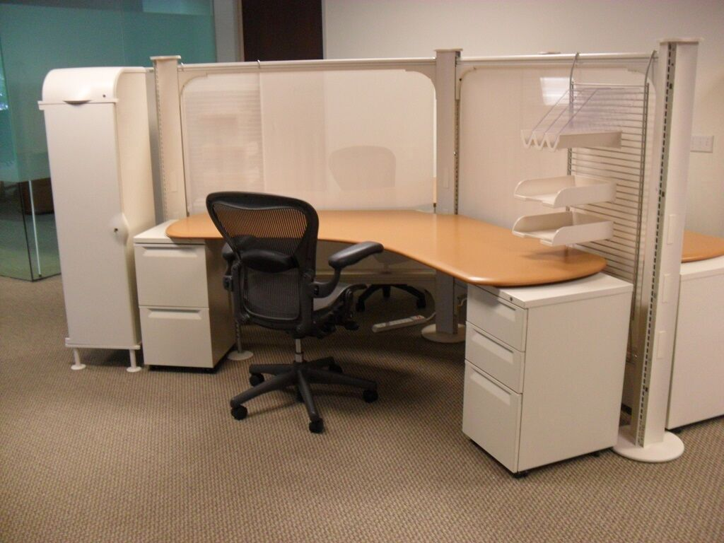 Herman Miller Used Cubicles Resolve System Earth Tone