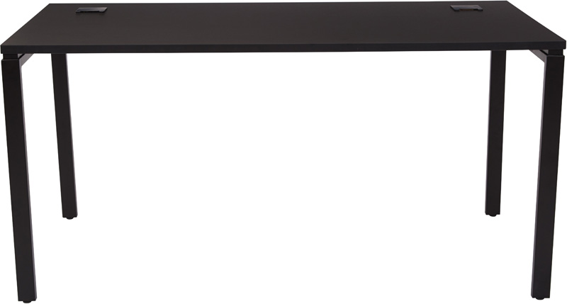 Black Writing Desk with Black Laminate Top by Space Seating
