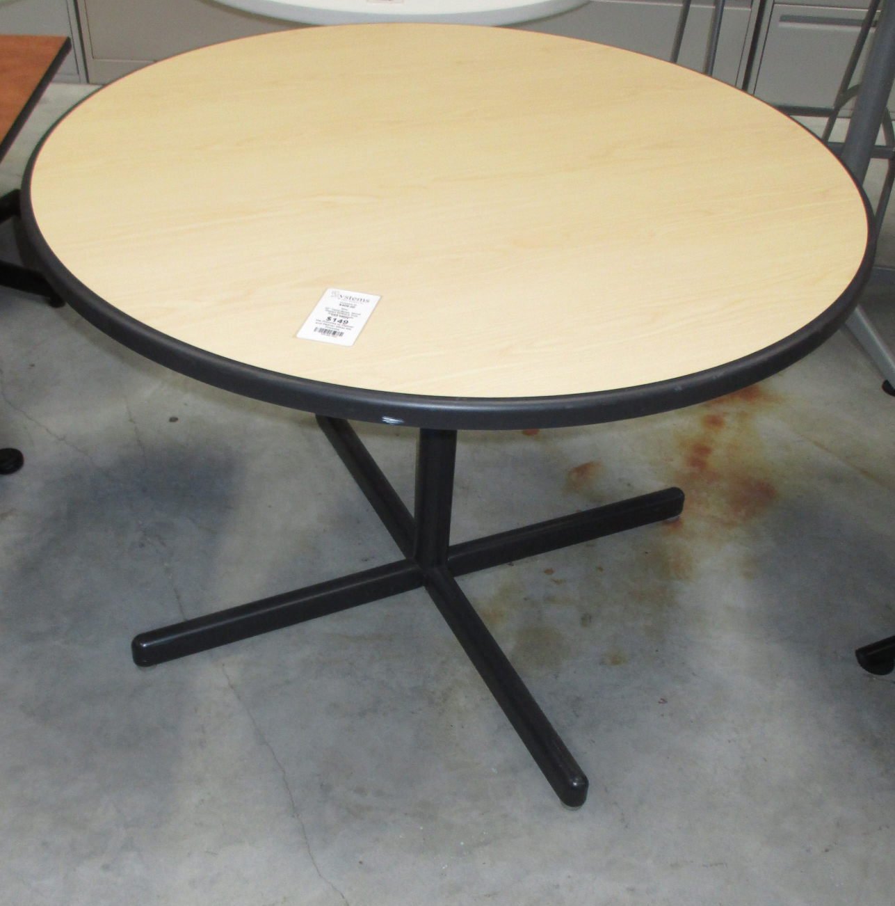 Tan Round Office Table Systems Office Furniture - Black round office table
