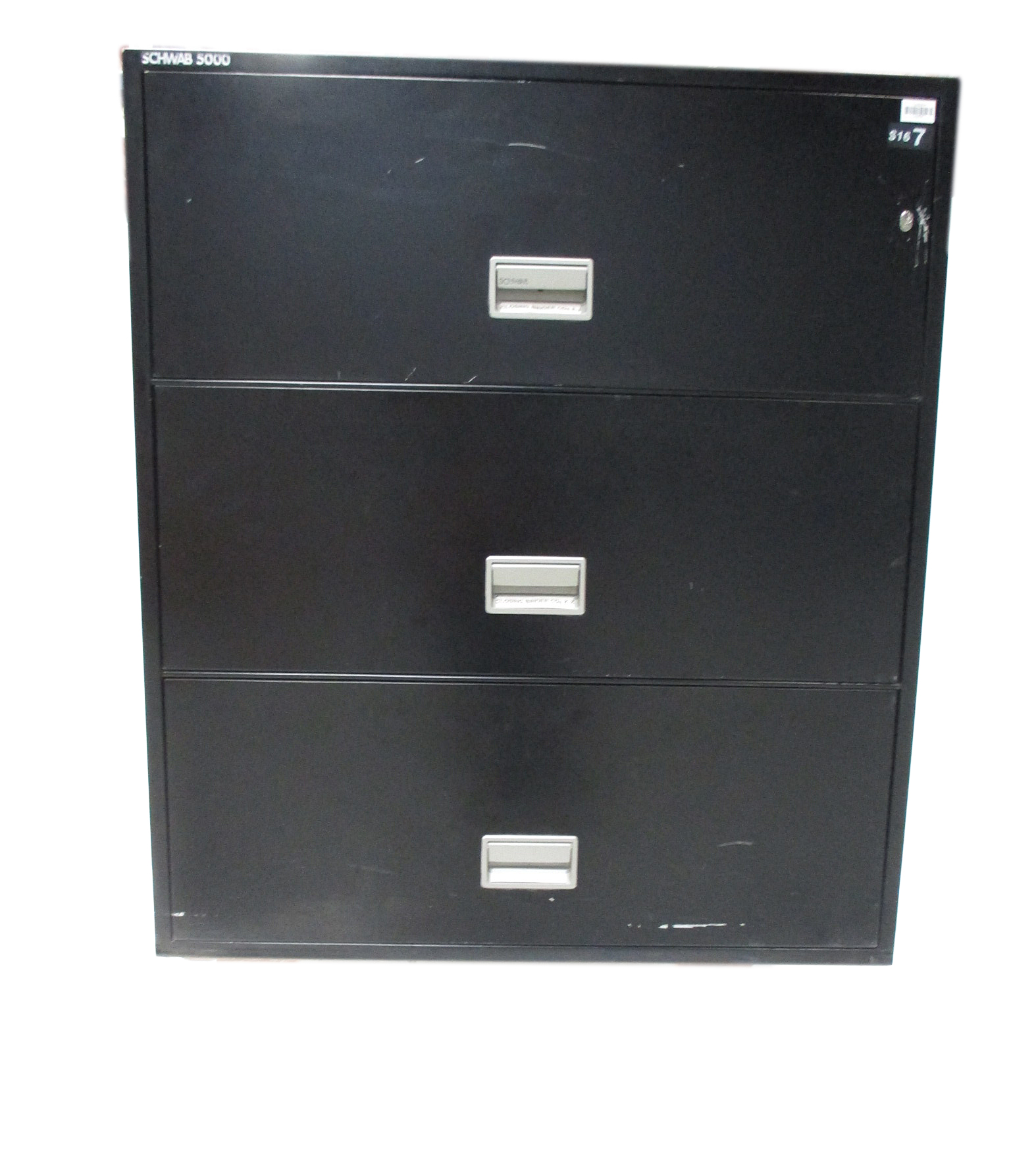 3 Drawer 36 Fireproof Lateral File Black By Schwab 5000