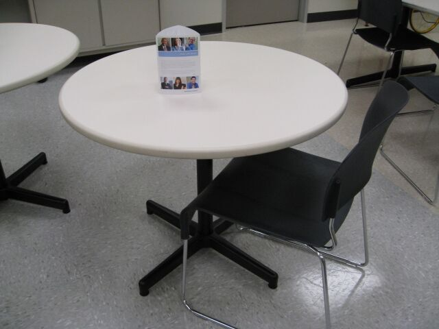 36u2033 Round White Laminate Table By Steelcase