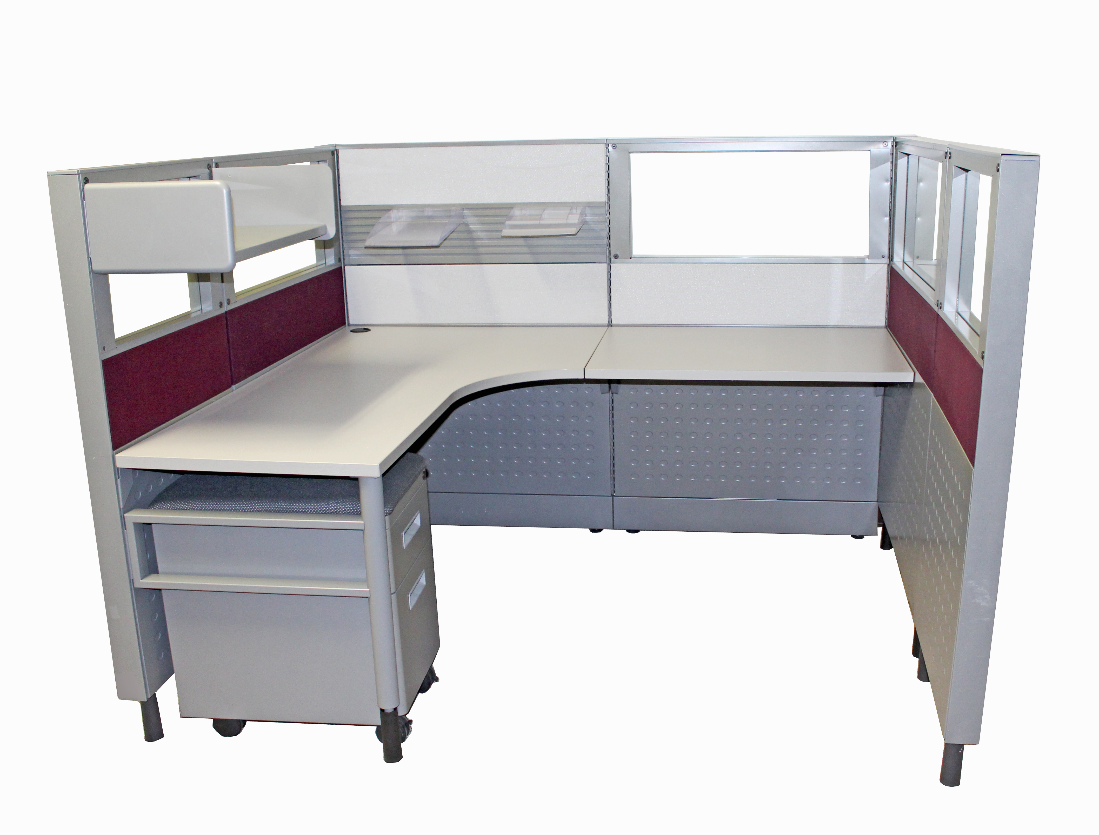 6 X5 53 Tremain Complete Used Cubicles With Glass