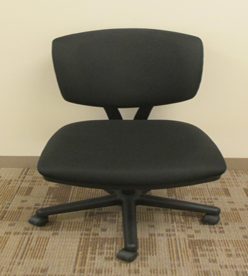 used office furniture black fabric task chair without arms by hon