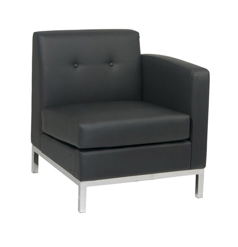 Black Right Arm Facing Modular Component Office Chair by Space Seating