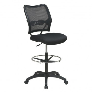 Deluxe Air Grid Back Drafting Chair with Black Mesh Seat by Space Seating