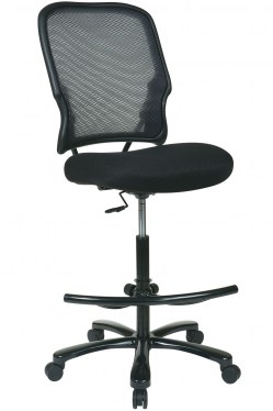 Big and Tall Deluxe AirGrid Back Drafting Chair by Space Seating