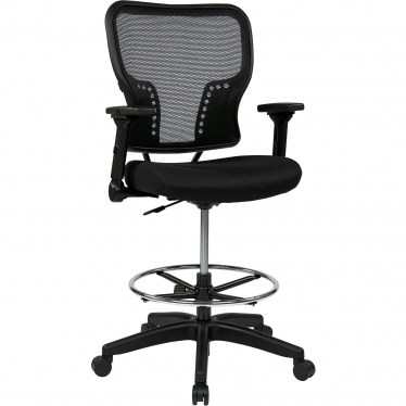 Double AirGrid Drafting Chair with Adjustable Arms by Space Seating