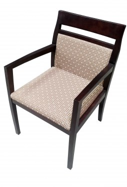 Paoli Tan with Dot Fabric Office Guest Chair