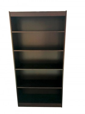 4 Shelf Mahogany Veneer Bookcase