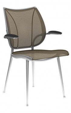Human Scale Liberty Side Chair Amber Mesh