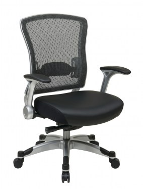 Leather Seat Mesh Task Chair by Space Seating