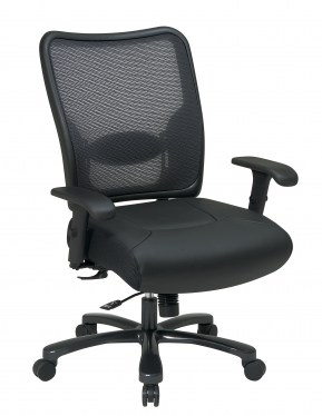 Big and Tall Leather Seat Ergonomic Chair by Space Seating