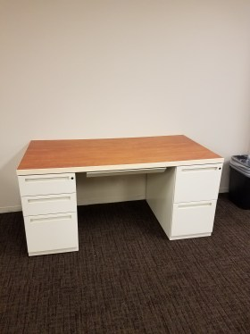 60″x30″ Light Cherry Laminate Desk By Kimball