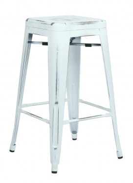 Tall Antique Metal Stool by Space Seating