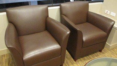 Mocha Leather Club Chairs By Bernhardt