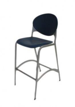 National Cinch Cafe Bar Stool Blue & Silver Houston office furniture