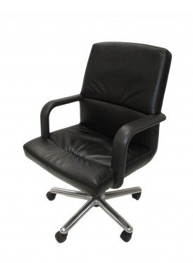 Brayton International Technique Mid-Back Conference Chair with Open Arms