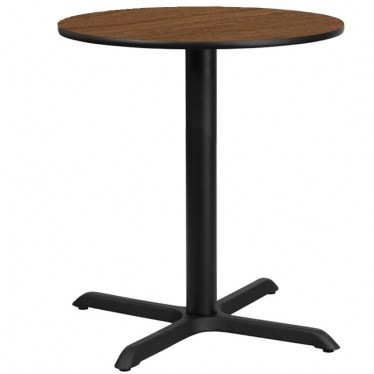 30 x 30 Round Bar Height Table with X Base by Space Seating