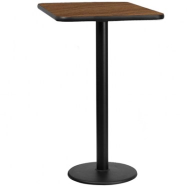 30 x 30 Square Bar Height Table with Round Base by Space Seating