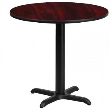 30 x 30 Round Break Height Table with X Base by Space Seating