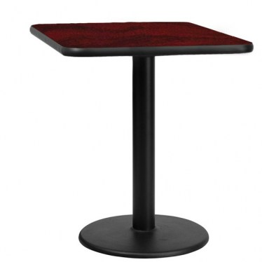 30 x 30 Square Break Height Table with Round Base by Space Seating
