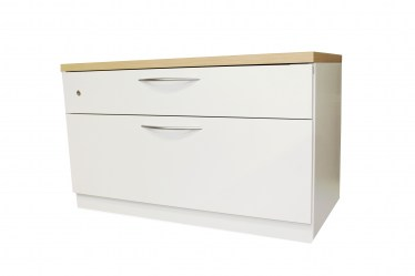 36″ Milk Lateral File with Maple Laminate Top by Steelcase
