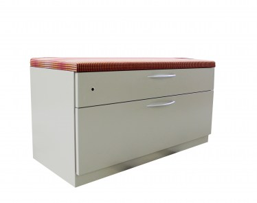42″ Mineral Lateral File with Red Fabric Top by Steelcase