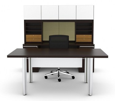 Cherryman Verde U-Shape Desk and Credenza