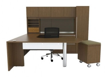 Cherryman Verde U-Shape Desk with Mobile Pedestal