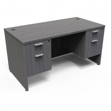 30″x66″ Kai Desk with Double Box/file Pedestals