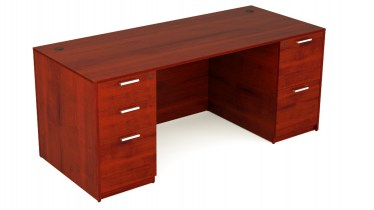 30″x60″ Kai Desk with Double Full Pedestals