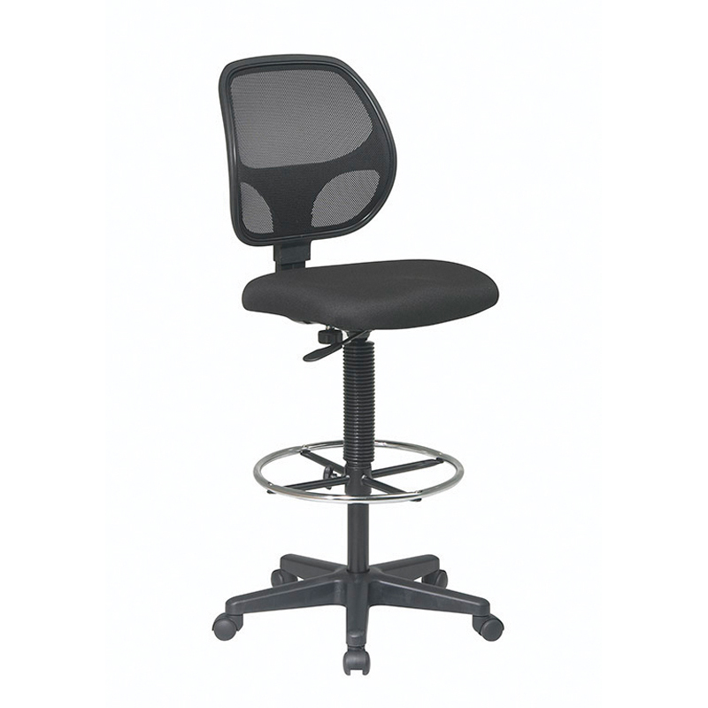 Deluxe Screen Back Drafting Chair with Fabric Seat by Space Seating