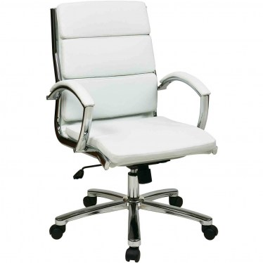 White Mid Back Executive Chair by Space Seating