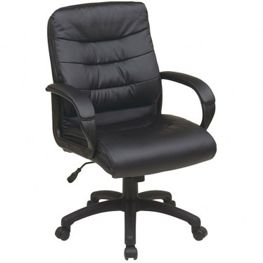 Mid Back Faux Leather Executive Chair by Space Seating