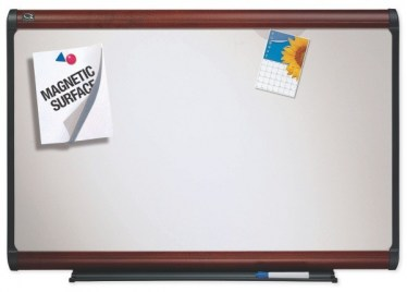 8'x4′ Magnetic Dry Erase Board with Mahogany Frame By Quartet