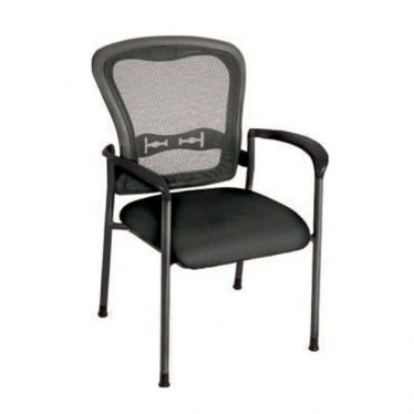 ProGrid Back Visitors Chair with Titanium Finish by Space Seating