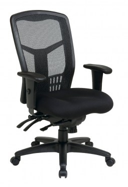 ProGrid High-Back Adjustable Black Managers Chair by Space Seating