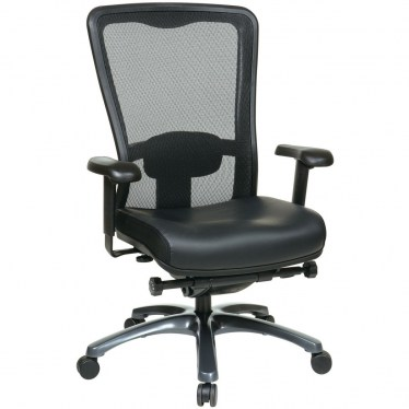 ProGrid High Back Chair with Leather Seat by Space Seating