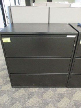 3 Drawer 36″ Lateral File- Graphite By Meridian
