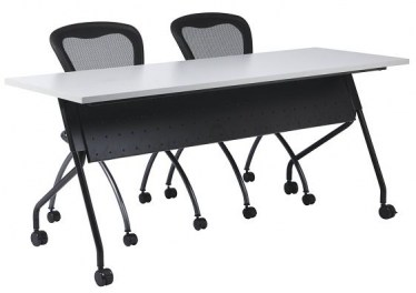 60 x 24 Nesting Training Tables with Modesty Panel